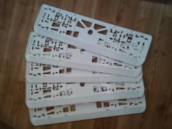 Белые номерные рамки
