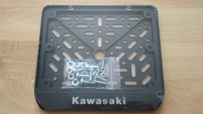 190х145 Рамки номера мотоцикла KAWASAKI рельеф