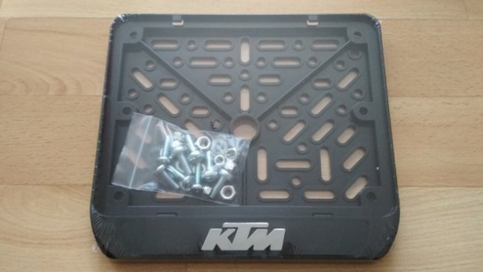 190х145 Рамки номера мотоцикла KTM рельеф