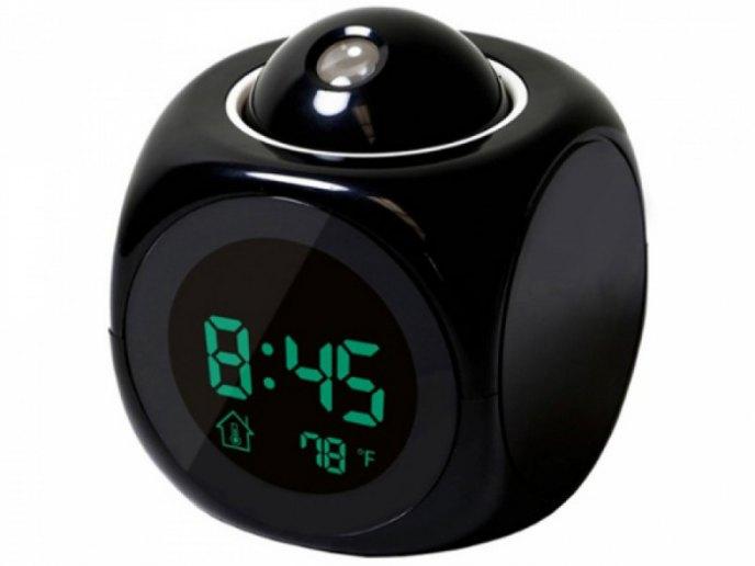 Часы-проекционные домашние, ЖК-дисплей, календарь, температура, будильник