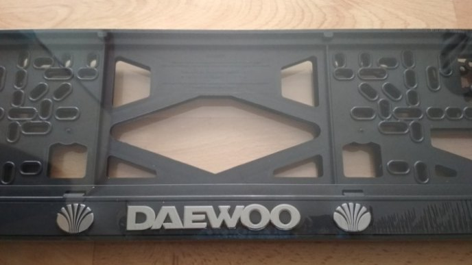 Рамка номера DAEWOO рельеф