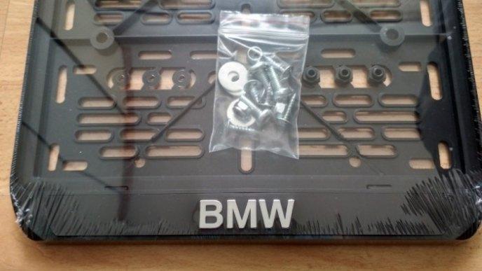 245х185 Рамка для мото номера BMW рельеф