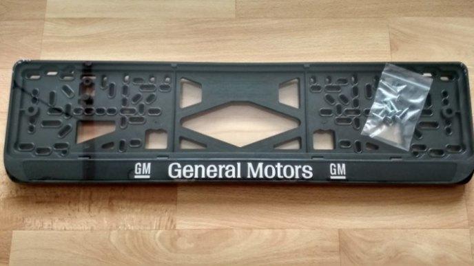 Номерная рамка General Motors - GM рельеф
