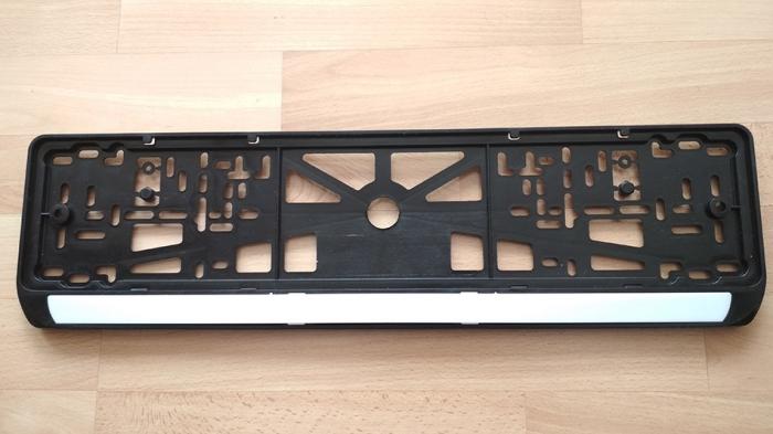 Номерная рамка с желобком для LED