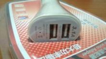 АВТОмобильное зарядное устройство с двумя USB разъемами 2.1А и 1.0А