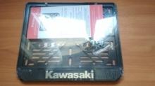 Рамка под номер мотоцикла KAWASAKI рельеф