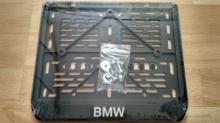 Рамка для мото номера BMW рельеф