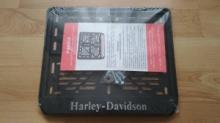 245х185 Рамка для номера мотоцикла Harley Davidson рельеф