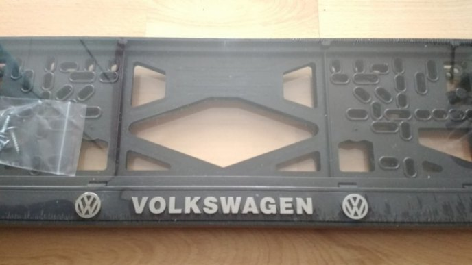 Номерная рамка VOLKSWAGEN рельеф VW